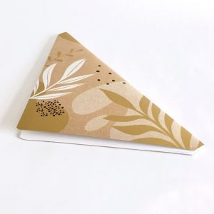 Floral Doodle Triangle Notebook