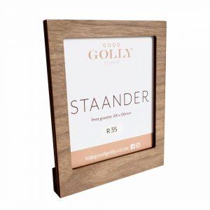 wood desk picture photo holder frame