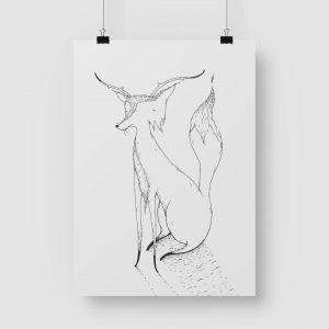 Good Golly Jurgens Walt Illustrations Art Print Dear Fox