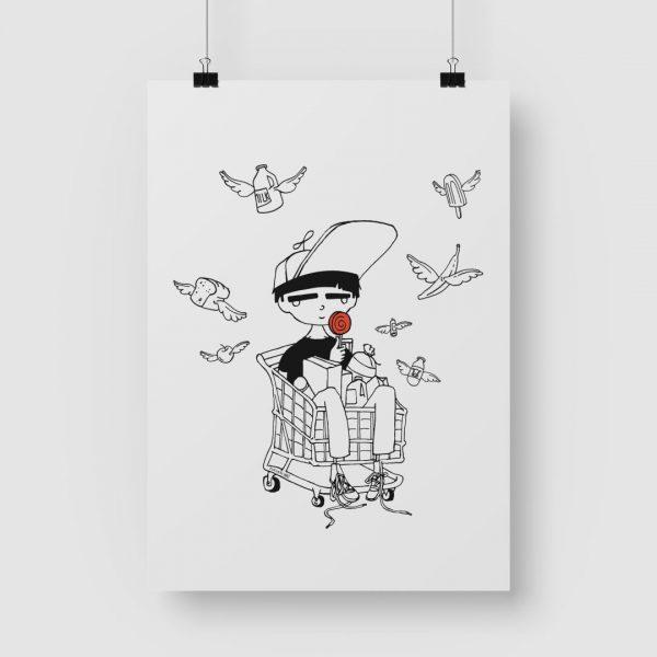 Good Golly Jurgens Walt Illustrations Art Print Mini Dude
