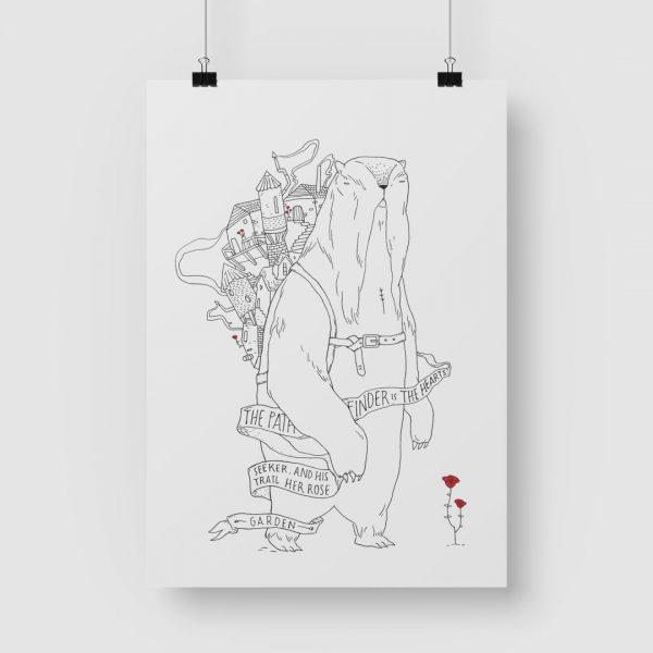 Good Golly Jurgens Walt Illustrations Art Print Path Finder