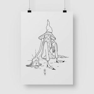 Good Golly Jurgens Walt Illustrations Art Print Wizard