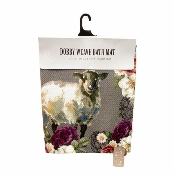 Good Golly Mooerse Mooi Dobby Weave Bath Mat Sheep Floral design