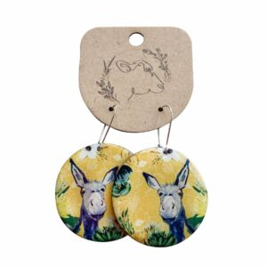 Good Golly Mooerse Mooi Earrings Round Floral Donkey
