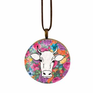 Good Golly Mooerse Mooi Leather and Wood Pendant Necklaces Cow