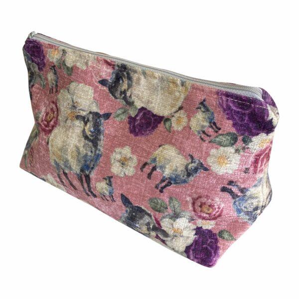 Good Golly Mooerse Mooi Makeup Bag Floral Sheep Cosmetic Bag
