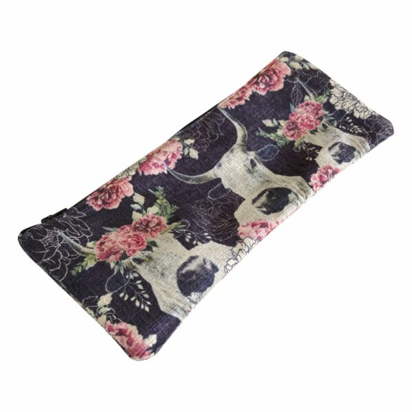 Good Golly Mooerse Mooi Pencil Bag Nguni Cow Dark Floral