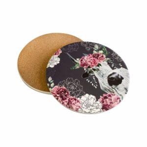 Good Golly Mooerse Mooi Pot Stander Cork Ceramic Nguni Floral bottom