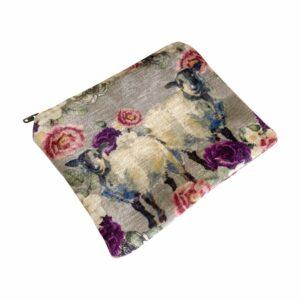 Good Golly Mooerse Mooi Small Zip Bag Floral Sheep