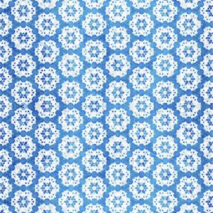 Good Golly PVC Table Runner 400 x 2300 Indigo Beach House pattern Thumbnail