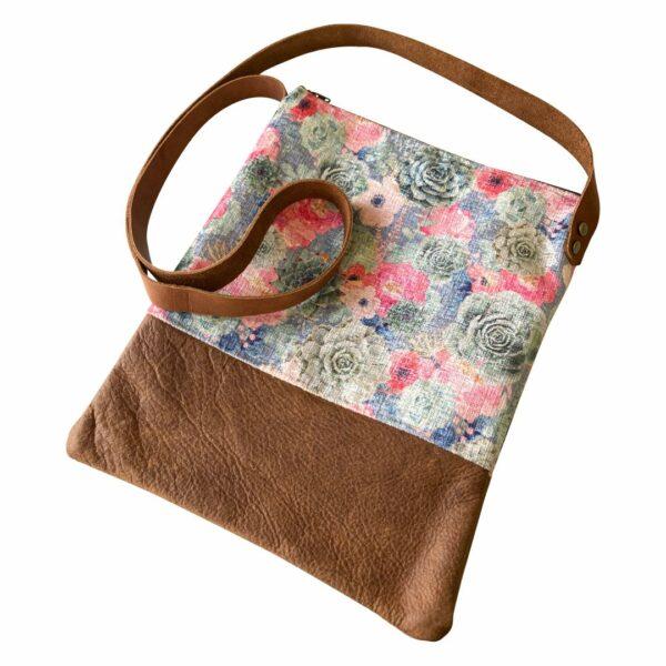 Good Golly Succulent and Floral Sling bag Leather Handbag