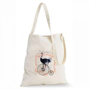 Good Golly Tote Sling Bag Cotton Karoo Ostrich design