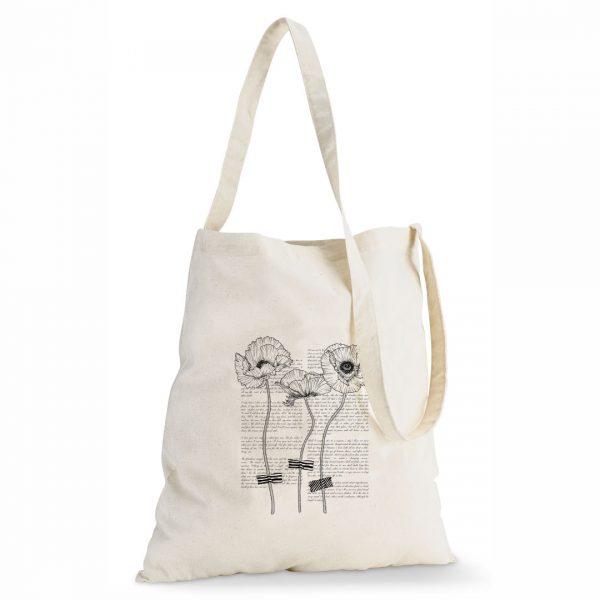 Good Golly Tote Sling Bag Poppy Flower Cotton design