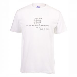 Good Golly White Tshirt with Afrikaanse Digter Print