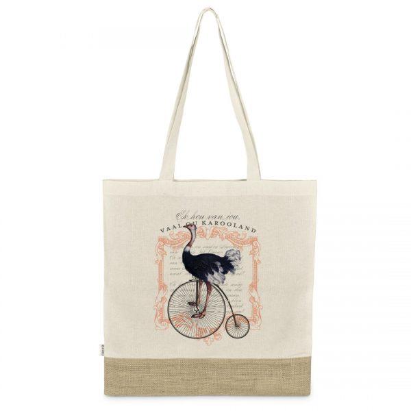 Good Golly Shopper Bags Karooland Design Ostrich Cotton Oudtshoorn Karoo Tote Bag
