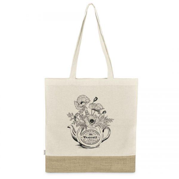 Good Golly Shopper Bags Poppy Mason jar Design cotton tote bag