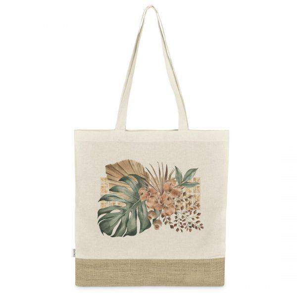 Good Golly Shopper Bags Oasis Design Tropical Boho Cotton Tote Bag